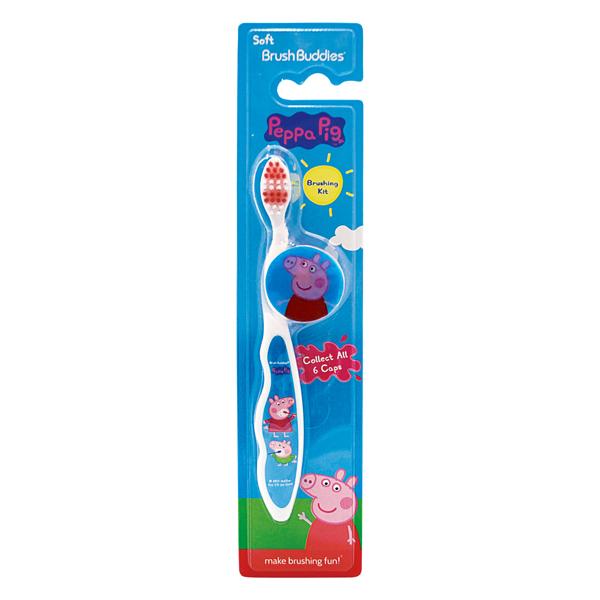 (Peppa Pig)American hot-selling Peppa Pig cartoon brush toothbrush (over 5 years old)