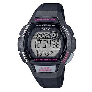 (CASIO)[CASIO] Sports girl no burden design large surface sports watch - black frame (LWS-2000H-1A)