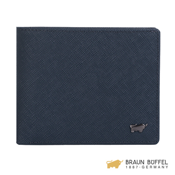 (Braun Buffel)[BRAUN BUFFEL] Lofino III Series 5 Card Pocket Leather Wallet - Midnight Blue BF314-316-MAR