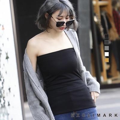 (EXCLIMARK) เสื้อรัดรูปผ้ากำมะหยี่นุ่มลื่น ให้ความอบอุ่น สีดำ