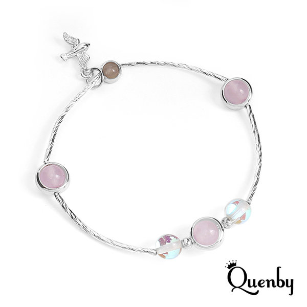 (Quenby)Quenby sweet charm good wind artificial crystal crystal bracelet / bracelet -C