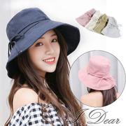 [I.Dear] ญี่ปุ่น UV CUT โบว์สตริงครีมกันแดดม่านบังแดดหมวก (5 สี)
