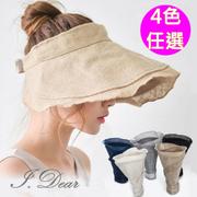[I.Dear] ญี่ปุ่นและเกาหลีใต้ฝ้ายและผ้าลินินใบบัวครีมกันแดดหมวกบังแดด (5 สี)