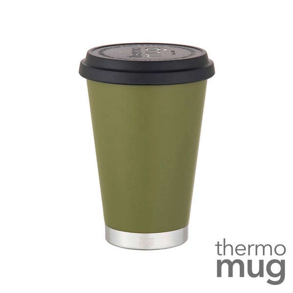 (Thermo Mug)Thermo Mug [large caliber insulation accompanying cup] forest green