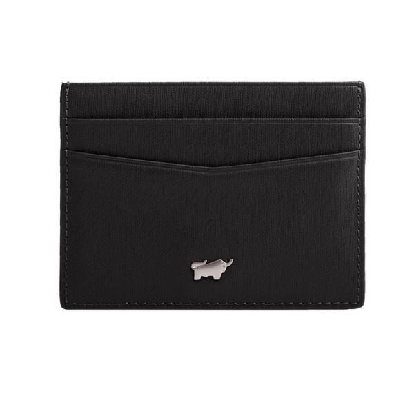 (BRAUN BUFFEL)[BRAUN BUFFEL] HOMME-M series 5 card single layer card holder (black)