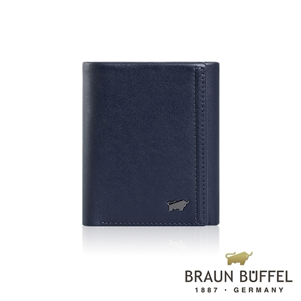 (BRAUN BUFFEL)[BRAUN BUFFEL] German Taurus Andrews Series 7 Card Tri-fold wallet (Navy)