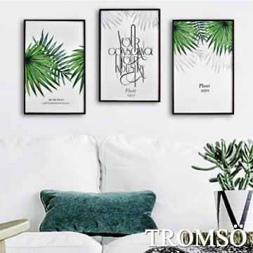 (TROMSO)TROMSO Nordic life prints have frame painting - Nordic green leaf WA63 (three sets)