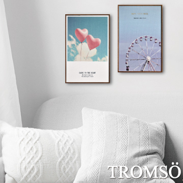 (TROMSO)TROMSO Nordic life prints have frame paintings - sweet holiday WA60 (two sets)