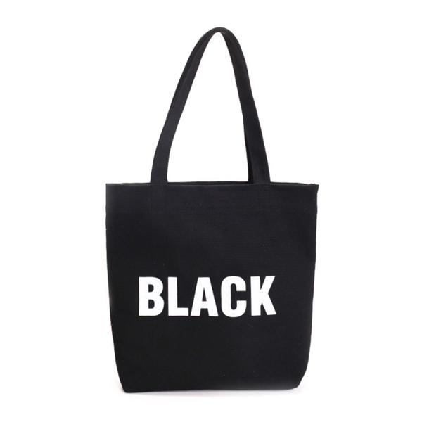 (MI)[品?. MI] Korean version of the simple letter canvas shoulder bag