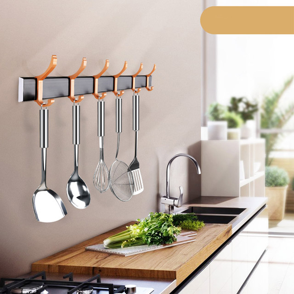 Wall-free hooking rack after punch-free door (2 in) - Champagne