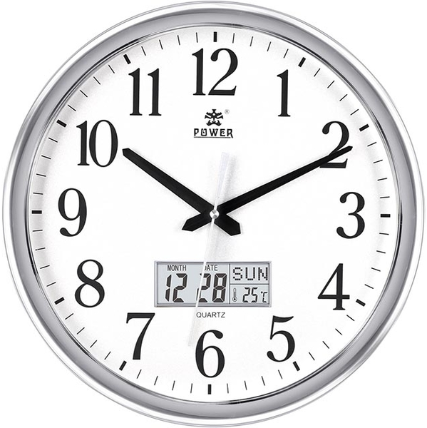 (POWER)[POWER Overlord] high quality temperature ultra-quiet wall clock -38cm