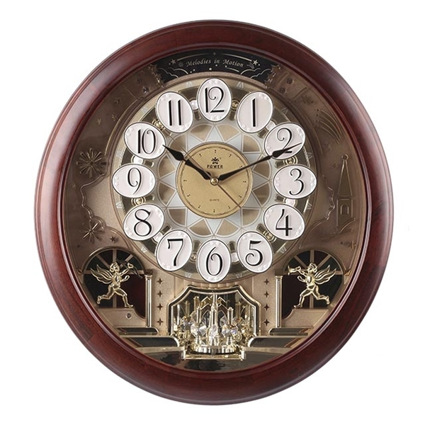 (POWER)[Overlord] European Castle Design Magic Crystal Turning Music Wall Clock