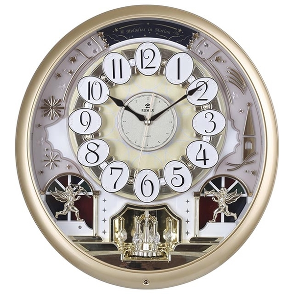 (POWER)[Overlord] European Castle Design Fine Crystal Turning Music Wall Clock