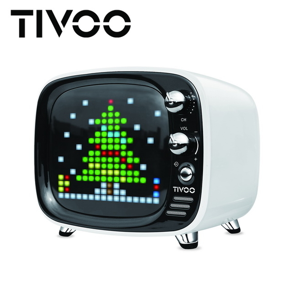 (Divoom)[DIVOOM] TIVOO Light and Sound Dancing Smart Bluetooth Speaker - Athens White