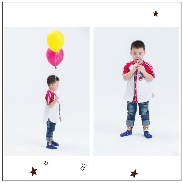 (PEILOU)PEILOU Beru children's fun three-dimensional anti-slip socks (6 in) _ bulldog