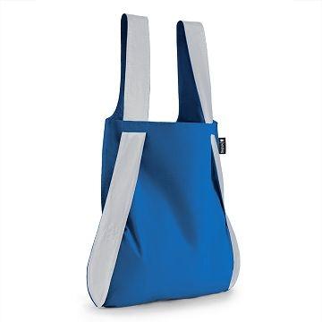 (Notabag)German Notabag Reflective Silver Notte Bag - Greek Blue