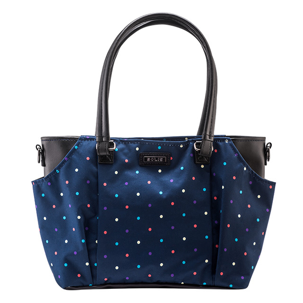 (SOLIS)SOLIS [Polk Point Series] stitching leather portable / dual-use bag (dots)