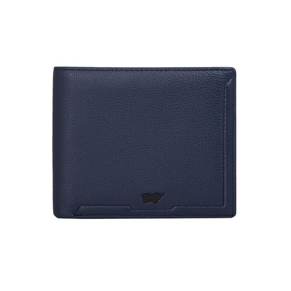 (BRAUN BUFFEL)[BRAUN BUFFEL German Golden Bull] Jimmy Series 5 Card Transparent Window Wallet (Rock Blue)