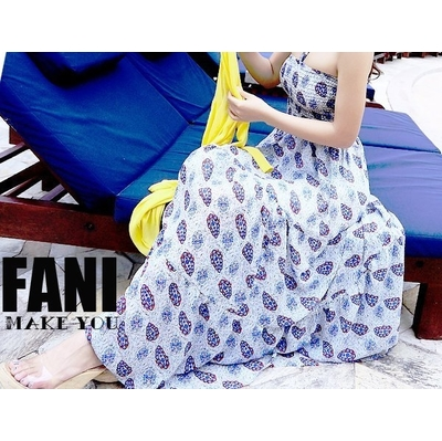 (FANI)◇Finni FaNi◇[Ping Chiffon Amoeba Long Dress]