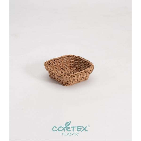 CORTEX mini square woven basket W16- Khaki