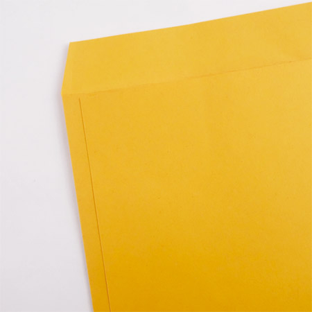 Add new yellow cowhide document seal /79HN002B/A3/100P/50 in/package