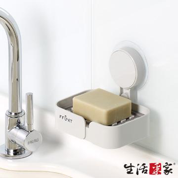 (SHCJ)Life collection kitchen strong seamless stickers small drain soap rack