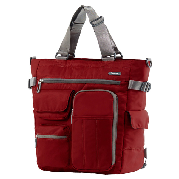 (VoyLux)VoyLux - Clebag City Express - Ultra Lightweight Tote Bag 3681312A - Red Multifunctions 4Way Bag