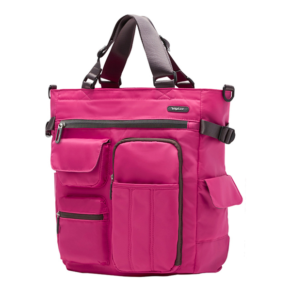 (VoyLux)VoyLux - Clebag City Express - Ultra Lightweight Tote Bag 3681342A - Pink Multifunctions 4Way Bag