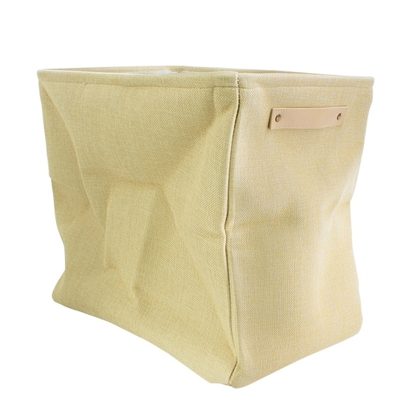 Foldable storage basket 44L large capacity beige