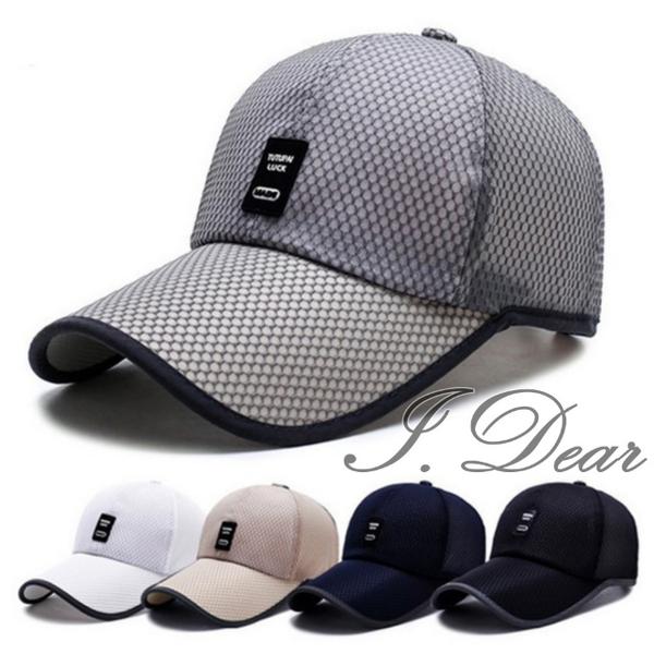 [I.Dear] ถนนชายและหญิงฟังก์ชั่นกีฬาแห้งเร็วและที่เดินทางมาพักผ่อนตาข่ายหมวกเบสบอลหมวกหมวกสุทธิ (5 สี)