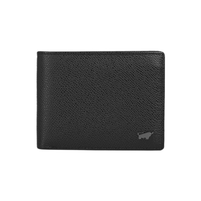 (BRAUN BUFFEL)[BRAUN BUFFEL German Golden Bull] Morrison Series 4 Card Coin Bag Wallet (Rock Black)