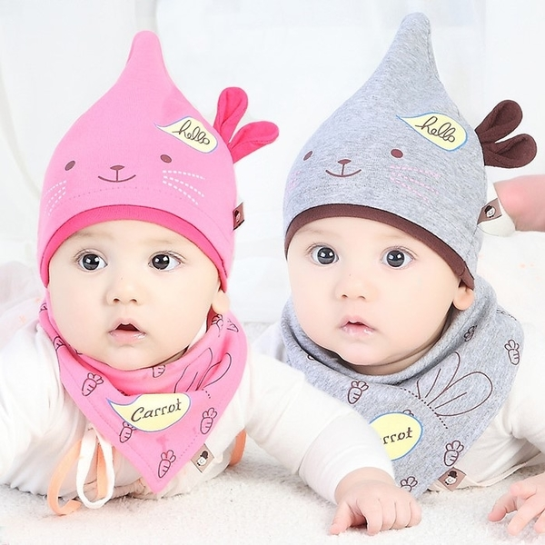 "Wild ""little bunny ears"" lovely warm hat sets of headgear"
