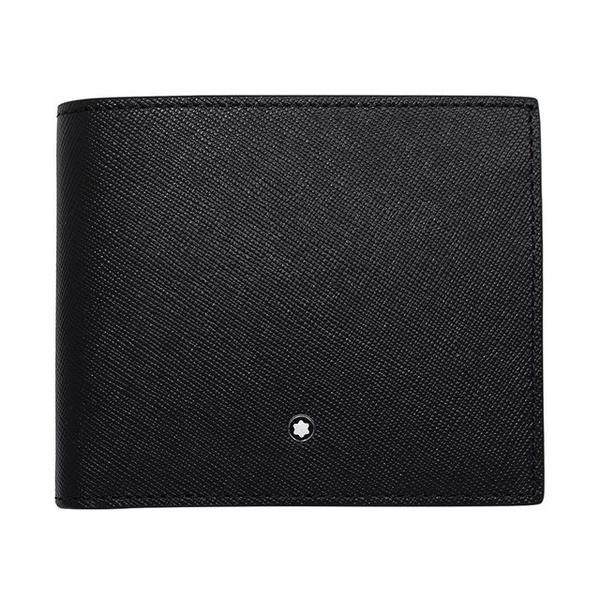 (MONTBLANC)MONTBLANC Montblanc Sartorial ingenious series scratch-resistant cowhide 8 card short clip black