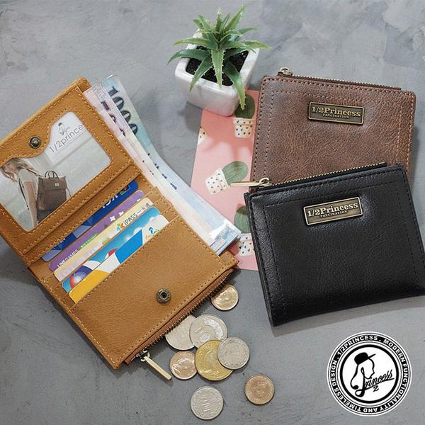 (1/2princess)1/2Princess retro wearable leather minimalist thin short clip-3 color [A0043]