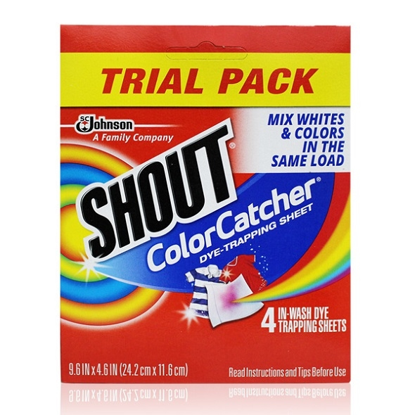 (SHOUT)SHOUT American Laundry Magic Absorbent Paper - 4 Pieces