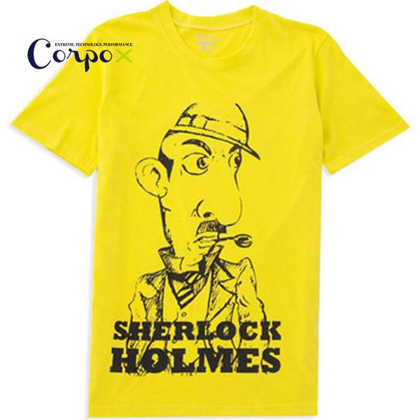 (Corpo X)[Corpo X] Men's Cool Sense T (Sherlock Holmes) - Mustard Yellow