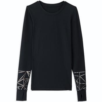 (Corpo X)[Corpo X] Women's 3M Elbow Reflective Sweatshirt - Black