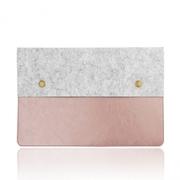 MacBook 12 吋 fine texture double storage protection bag rose powder