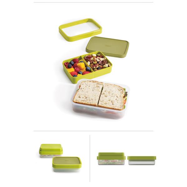 Joseph Joseph flip lunch box (green)