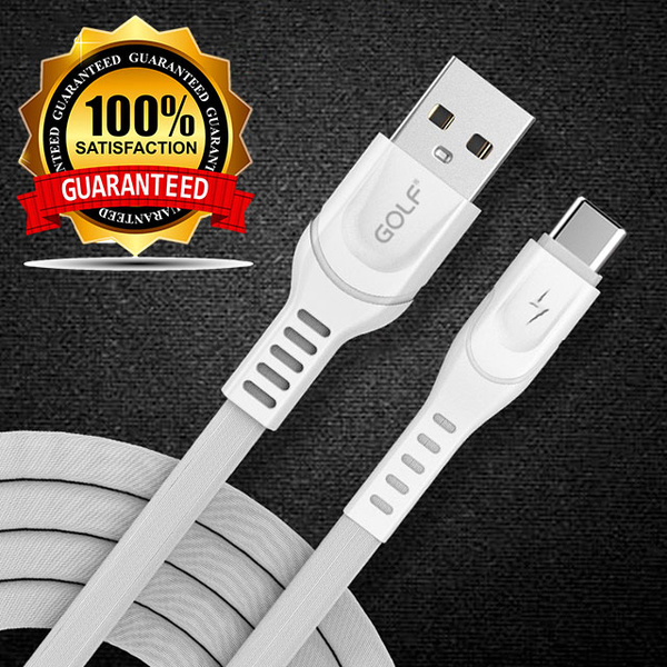 GOLF Type-C 2.4A flat fast charge cable 1m