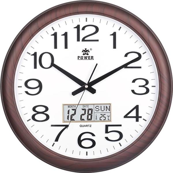 (POWER)[Overlord] very clear big calendar office living room silent wall clock -48CM