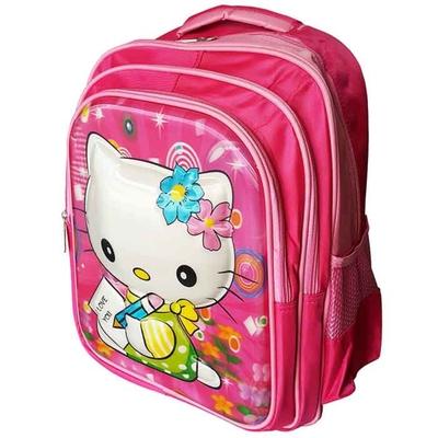 *ส่งฟรีลงทะเบียน* กระเป๋าเป้เด็ก kitty คิตตี้ 15.5นิ้ว ลายนูน กระเป๋านักเรียน กระเป๋าเป้นักเรียน
