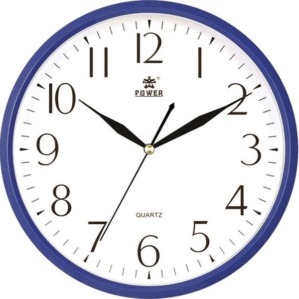 (POWER)[Overlord] simple and versatile Mediterranean blue home must mute wall clock -25CM