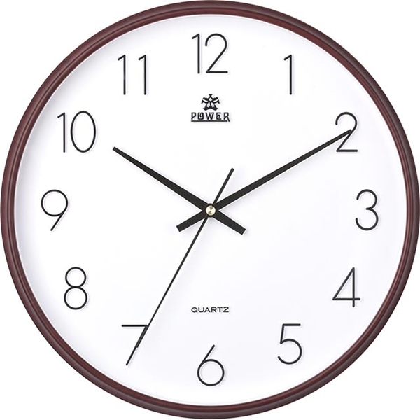 (POWER)[Overlord] modern minimalist style cappuccino brown stereo digital silent wall clock -36CM