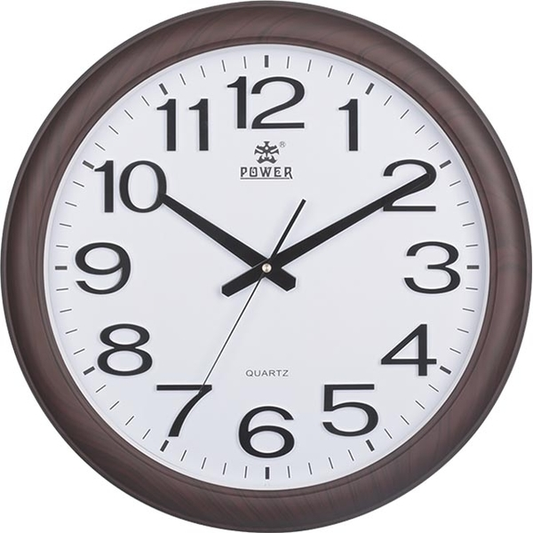 (POWER)[Overlord] retro generous Mocha brown home must mute wall clock -33CM