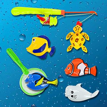 6 pcs Sea animals bathing toy fishing set (ST030)