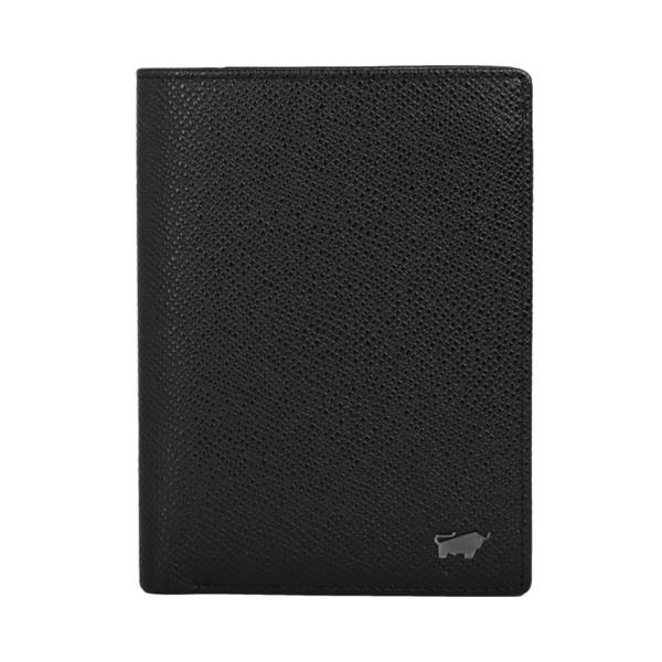 (BRAUN BUFFEL)BRAUN BUFFEL Morrison Series 11 Card Straight Wallet - Black BF317-309-BK