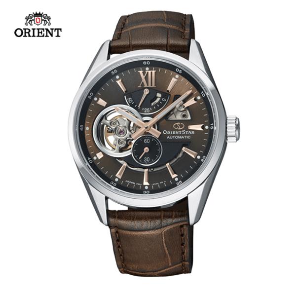 (ORIENT)ORIENT STAR Oriental Star OPEN HEART Series Hollow Mechanical Watch Belt RE-AV0006Y Brown - 41.0mm