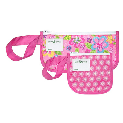 (green sprouts)American green sprouts snack bag / solid tooth / small item storage bag two into the group _ flower _GS165371-PF