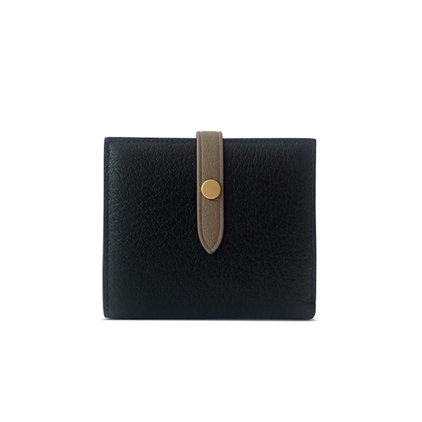 GT0013BK กระเป๋าสตางค์ หนังแกะ ดีไซน์หัวเข็มขัด - สีดำ
